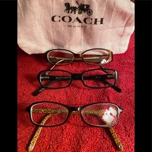 Authentic Coach RX glasses!! You get all 3 pairs !